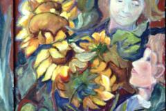 Kinder und Sonnenblumen