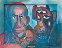 Picasso mit Stiermaske