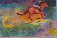 Rotes Rennpferd